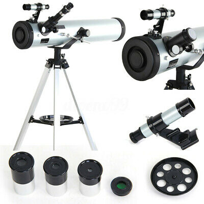 AU Pro Seben Zoom Astronomical Telescope Enlarge Star Space Reflector 76 - 700mm