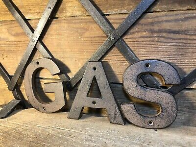 Mobil Gas Can Cast Iron Sign Pump Station Gulf Texaco Porcelain Shell Conoco