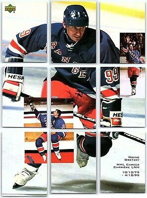 1999-00 MCDONALDS UD GRETZKY PERFORMANCE FOR THE RECORD PUZZLE 9 Card Set Lot BV