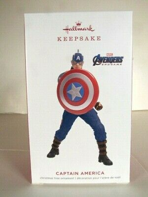 "2019 Limited Ed. ""Captain America"" Avengers End Game Hallmark Ornament"