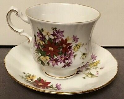 Excellent Paragon Bouquet Flower Festival Cup And Saucer 1# Quality England