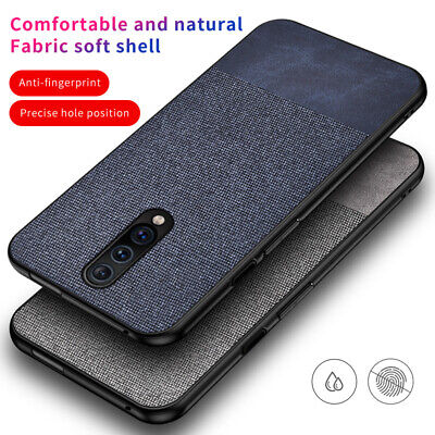 Shockproof Canvas Fabric Slim Phone Case Cover For OnePlus 7 Pro 6T