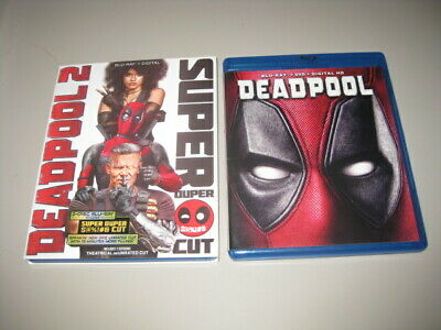 DEADPOOL & DEADPOOL 2 Super Duper Cut with Slipcover BLU RAY