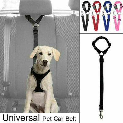 Dog Cat Car Vehicle Safety Seat Belt Harness Leash Pet Adjustable Traction Rope