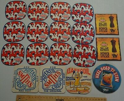 18 x MIXED COLLECTABLE SNACKFOOD BEER COASTERS / MATS BB9