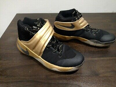 premium selection 4a662 7cf32 NIKE ZOOM KYRIE 2 iD Black Gold 843253-995 Men's SIZE 8 Basketball Shoes