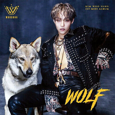 THE ROSE KIM WOOSUNG [WOLF] 1st Mini Album CD+POSTER+Photo Book+3p Card+Sticker