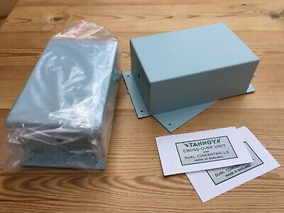 Pair new TANNOY empty grey boxes, for speaker crossovers, for DIY projects