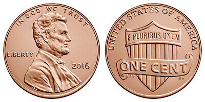 Roll of 2016 P Uncirculated Pennies