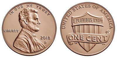 Roll of 2018 D Uncirculated Pennies