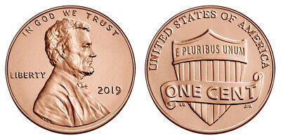 Roll of 2019 P Uncirculated Pennies