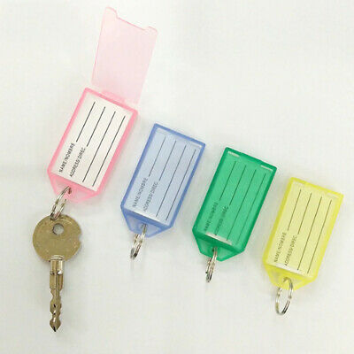 Candy Color Plastic Classification Marking number Renovate Baggage Tag Key Chain