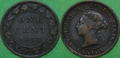 1888 Canada Large Penny Graded as Fine