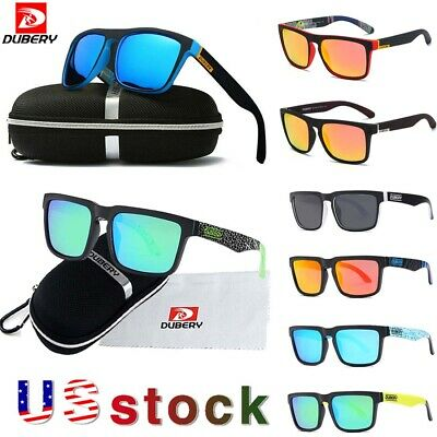 DUBERY Mens Polarized UV400 Sunglasses Square Cycling Sport Driving Sun Glasses