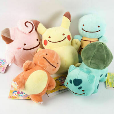 Pokemon Pikachu Charmander Squirtle Bulbasaur Clefairy Ditto Metamon Plush Toy 5