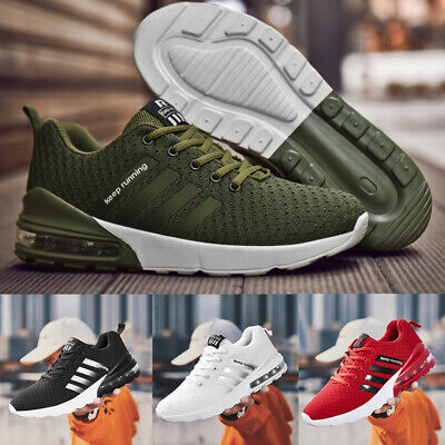 UK Mens Running Sports Lace Up Pumps Trainers Shoes Air Bottom Shock Size 6-11