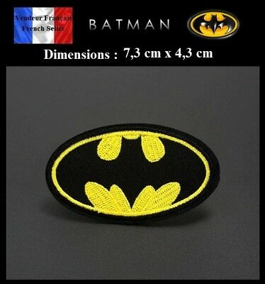 Écusson Brodé Thermocollant NEUF ( Patch Embroidered ) - Batman DC Comics (Ref1)