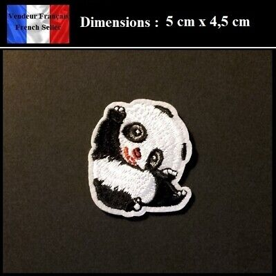 Écusson Brodé Thermocollant NEUF ( Patch Embroidered ) - Panda Kawai ( Ref 2 )