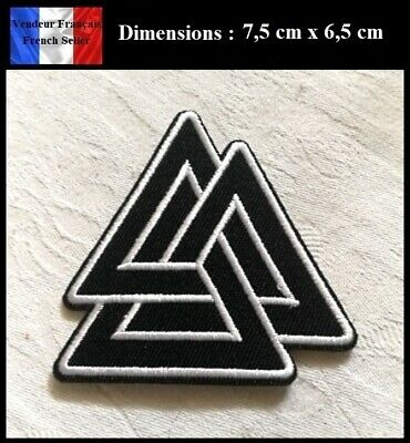 Écusson Brodé Thermocollant NEUF ( Patch Embroidered ) - Valknut Symbole Viking