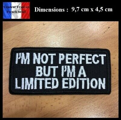 Écusson Brodé Thermocollant NEUF ( Patch Embroidered ) - I'm not perfect ...