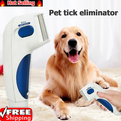 Electric Flea Comb -Great for Dogs & Cats Pet Brush Anti Tick Control - Hot Sale