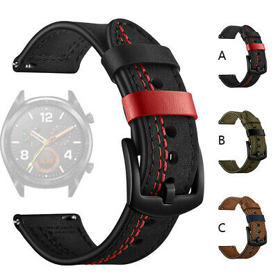 Fashion Replacement Leather Watch Band Wrist Strap For Huawei Watch GT 22mm