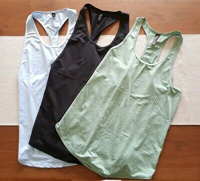 3 x Cotton On Body Active Training Sport Tank Singlets size S and M EUC