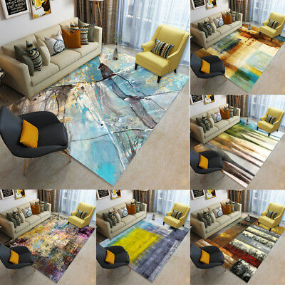 Modern Small Large Abstract Ink Thick Long Floor Carpet Runner Rugs Mats 127