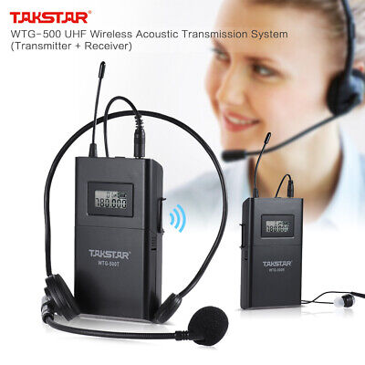 TAKSTAR UHF Wireless Acoustic Transmission System Transmitter+Receiver 100m P1I5