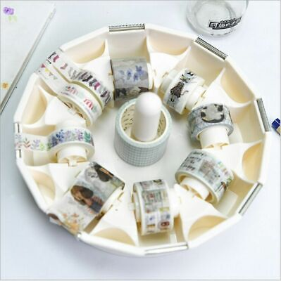 Creative Masking Tape Cutter Washi Tape Desktop Storage Organizer Case Shaft Spl