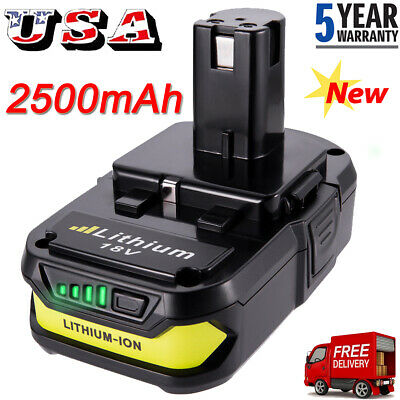For Ryobi P107 One+ 18 Volt Compact Lithium 2500mAh Battery P106 P102 P105 P109