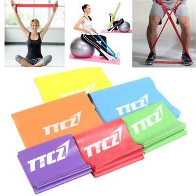 Elastic Resistance Bands Yoga Exercise Gym Fitness Pilates Stretch Straps Physio