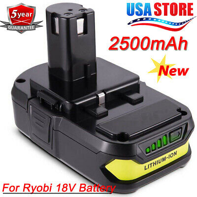 P108 For Ryobi P190 One+ 2.5Ah 18Volt Lithium-Ion Compact Battery Pack P104 P102
