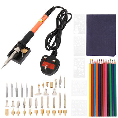 70pcs 60W Wood Burning Pen Soldering Tool Crafts Tool Set Pyrography Kit Tips AU
