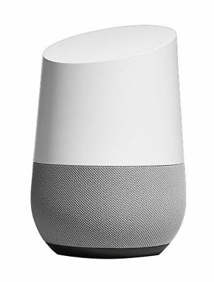 Google Home Smart Assistant Speaker Wi-Fi Streaming White Slate new