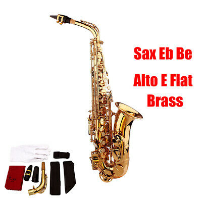Saxophone Sax Eb Be Alto E Flat Brass Carved Pattern For Student Beginner