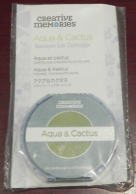 Creative Memories Stamper Aqua/Cactus Ink Cartridge Bnip