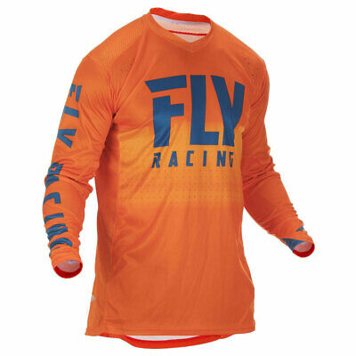 Fly Racing Lite Hydrogen Motorbike Motorcycle Off Road Jersey Orange / Navy