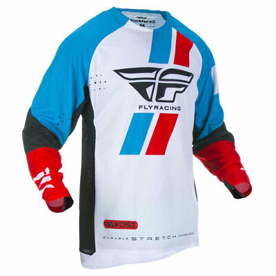Fly Racing Evolution DST Motorbike Motorcycle Off Road Jersey Red / Blue / Black