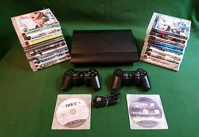 Sony Playstation 3 Super Slim 12GB Console (CECH-4203A)-21 Games Included Also