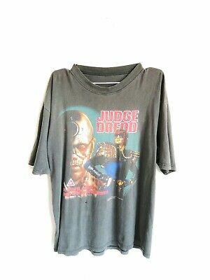 💥Vintage 1995 Judge Dredd Sylvester Stallone 90s Movie Promo L Mens T-Shirt