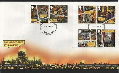GB 2016 FDC Great Fire of London , LONDON EC3 Local postmark stamps