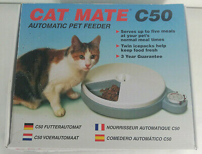 Cat Mate C50 Automatic Pet Feeder. Up to 5 Meals