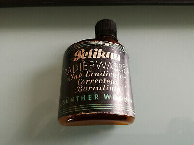 Vintage Antique Pelikan Radierwasser Ink Eradicator Gunther Wagner bottle