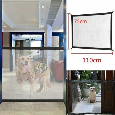 Safety Enclosure Dog Gate Barrier Mesh Safe Pet Anywhere Magic Guard&Install OD
