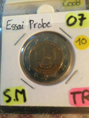 2€ - 2 euro commemorative Saint-marin 2007 éssai probe