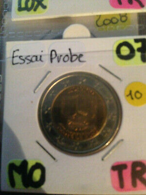 2€ - 2 euro commemorative Monaco 2007 éssai probe