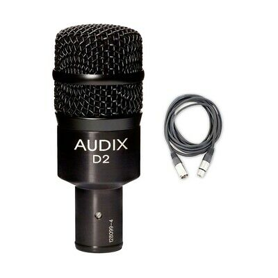 Audix D2 Dynamic Instrument Microphone with Mic Cable NEW