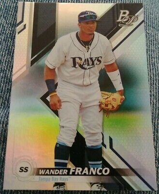 2019 Bowman Platinum WANDER FRANCO #TOP-9 Tampa Bay Rays RC Top Prospects #9 🔥