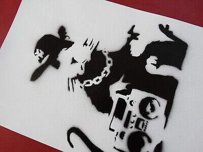 Banksy, Spray Paint Stencil on Canvas - Original Dismaland Souvenir
